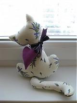 Dekorácie - Levanduľová mačička - 2730172