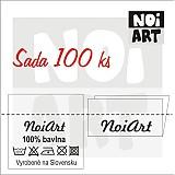 - Textilná etiketa 3x3 cm sada 100 ks - 2730868