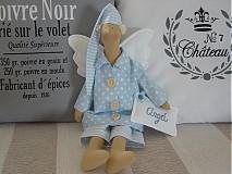 Bábiky - Modrý anjel s medvedíkom - 2731659