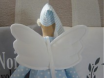 Bábiky - Modrý anjel s medvedíkom - 2731666