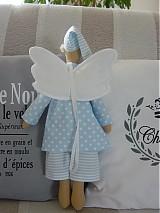 Bábiky - Modrý anjel s medvedíkom - 2731694
