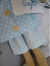 Bábiky - Modrý anjel s medvedíkom - 2731695