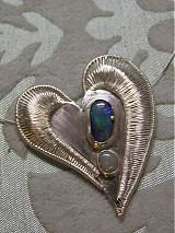 Náhrdelníky - Opálové srdce - 2734627