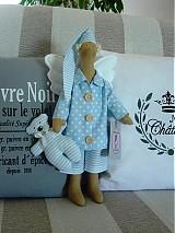 Bábiky - Modrý anjel s medvedíkom - 2737141