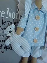 Bábiky - Modrý anjel s medvedíkom - 2737144