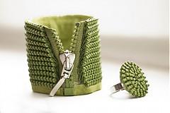 Náramky - zick zack in green - 2740096
