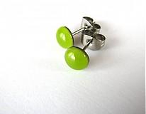 Náušnice - Zelené z chirurgickej ocele (antialergenní) - 2745996