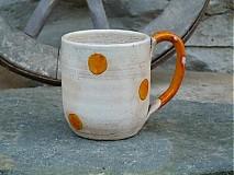 Nádoby - hrnček bodkáč oranžový - 2746566