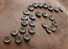 Materiál ručne robený - keramický gombík pletený - sada 8 ks - 2749379
