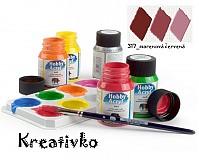 - Akrylové farby (matné) 59 ml - 317_marenová červená - 2750401