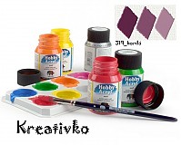 - Akrylové farby (matné) 59 ml - 319_bordó - 2751341