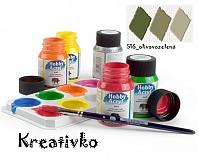 - Akrylové farby (matné) 59 ml - 516_olivovozelená - 2751558