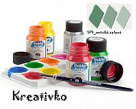 - Akrylové farby (matné) 59 ml - 519_antická zelená - 2751587