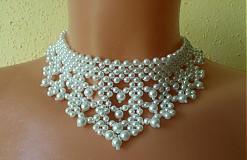 Náhrdelníky - Náhrdelník svadobný z perál - 2757621