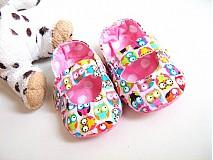 Topánočky - Veselé sovičky - roztomilé capáčky pro nejmenší - 2762368