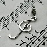 Náhrdelníky - Husľový kľúč  - 2763773