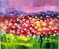 Obrazy - Záplava kvetov (zelenkastý) - 2765523