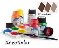 - Akrylové farby (matné) 59 ml - 617_tmavohnedá - 2771910