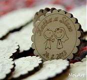 Darčeky pre svadobčanov - Svadobné magnetky - 2771966