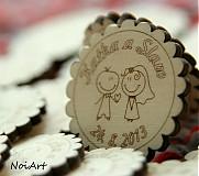 Darčeky pre svadobčanov - Svadobné magnetky - 2771967