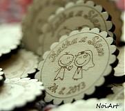 Darčeky pre svadobčanov - Svadobné magnetky - 2771969