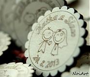 Darčeky pre svadobčanov - Svadobné magnetky - 2771970