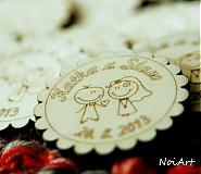 Darčeky pre svadobčanov - Svadobné magnetky - 2771971