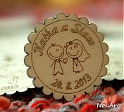 Darčeky pre svadobčanov - Svadobné magnetky - 2771973