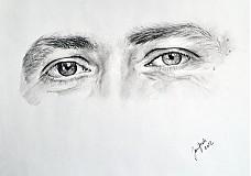 - Akvarelová alebo uhlíková štúdia očí na mieru - 2779057