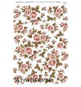 - Ryžový papier - R 0033  Ružičky hnedé - 2782144