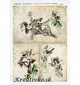 - Ryžový papier - R 0193  Dáma s rukávnikom - 2784458