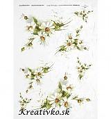 - Ryžový papier - R 0247  Margarétky biele - 2784606
