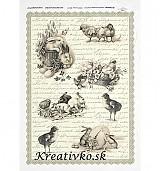 - Ryžový papier - R 0267  Zajace a kuriatka - 2785033