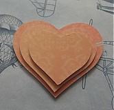 Materiál ručne robený - Kartónové srdiečka č. 2 / V zľave z 1,29€ - 2786200