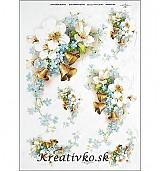 - Ryžový papier - R 0360  Čerešňový kvet a zvončeky - 2787021