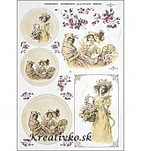 - Ryžový papier - R 0364  Tri priateľky (v kruhu) - 2787054