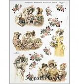 - Ryžový papier - R 0366  Tri priateľky - 2787055