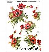 - Ryžový papier - R 0391  Vlčí mak - 2787092