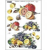 - Ryžový papier - R 0396  Citróny a fialky - 2787111