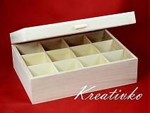 - Čajová krabica: 12-priehradková (s úchytom) - 2787446