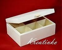 - Čajová krabica: 6-priehradková (s úchytom) - 2787467