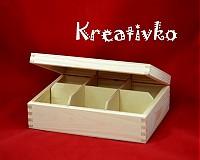 - Čajová krabica: 6-priehradková (bez zapínania) - 2787480