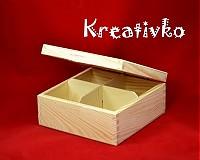 - Čajová krabica: 4-priehradková (bez zapínania) - 2787522
