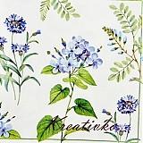 - Servítka 33 x 33 cm - Modré lúčne kvety - 2804124