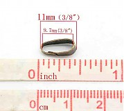 Komponenty - šlupňa (očko) B16427/ ant.bronz/ 11x4mm/ 1ks - 2820112