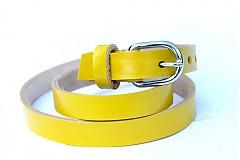 Opasky - Kožený úzký pásek - yellow - 2824945