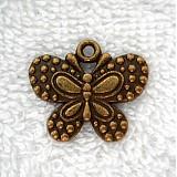- KPrív-motýľ 20x23mm-st.mos-1ks - 2831061