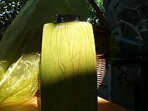 Váza zelená hranatá - Zelená tráva IV.