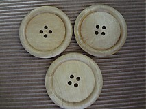 Mega drevený gombíček 5cm
