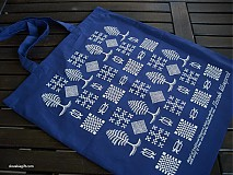 Nákupné tašky - Taška stromčeková modrá - 2846229